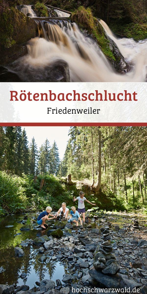 Die Rötenbachschlucht im Schwarzwald ist ein ideales Ausflugsziel für Wanderer und Outdoor-Liebhaber. Angrenzend an die Wutachschlucht bietet sie viele Möglichkeiten zu wandern.