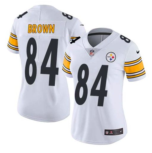 Pittsburgh Steelers Jersey - Antonio Brown White Vapor Untouchable Limited - Women's