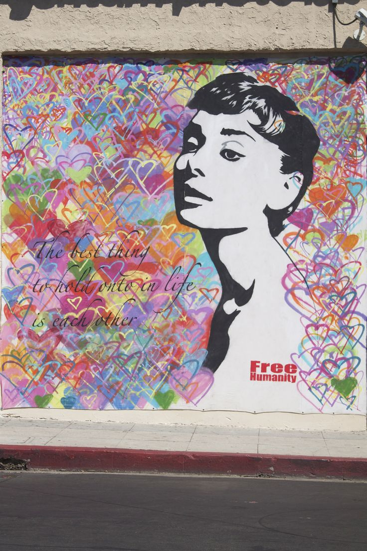 150 best images about street art graffiti and for Audrey hepburn mural los angeles