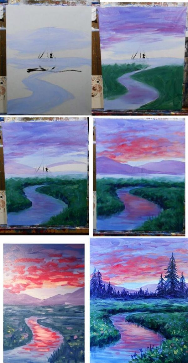 35 Step By Step Watercolour Painting Tutorials For Beginners Oil
