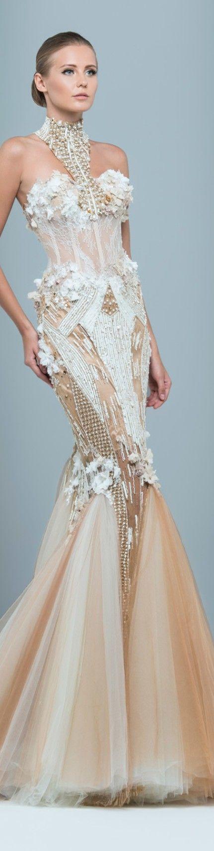 Texture!!  Marwan & Khaled couture 2015 ❤