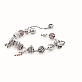 PANDORA bracelet $89, safety chain $49 and charms from $39 each