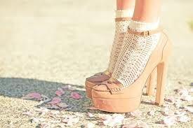 Socks!: Miumiu, Fashion, Nude, Style, Clothing, Pink Shoes, High Heels, Miu Miu, Lace Socks