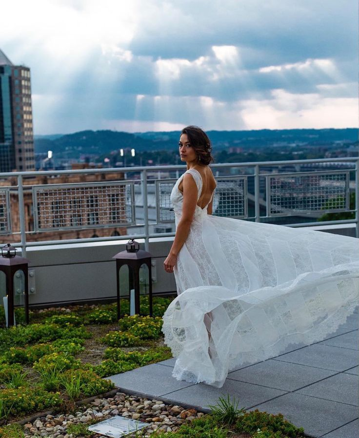 Rooftop Bridal Portrait Pittsburgh Wedding Bridal Hair And Makeup By Athome Beauty Bride Beauty Bridal Inspiration Wedding Makeup