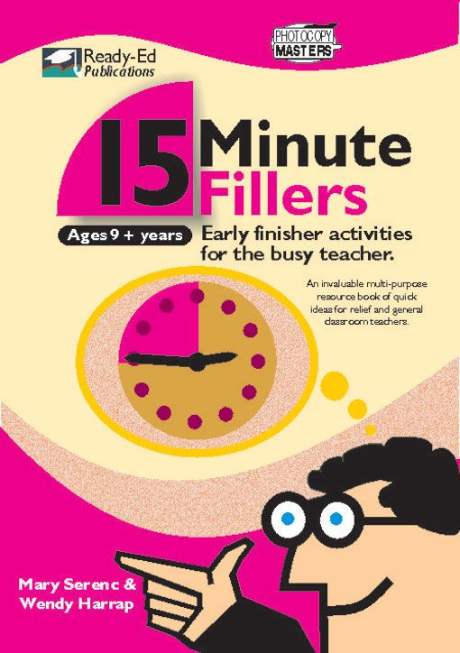 15 Minute Fillers is an invaluable multi-purpose resource book of quick ideas for relief and general classroom teachers in middle to upper primary school. Read More →