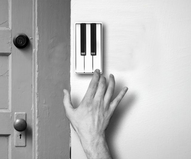 Piano Door Bell. Now you can announce your arrival with your very own theme tune.