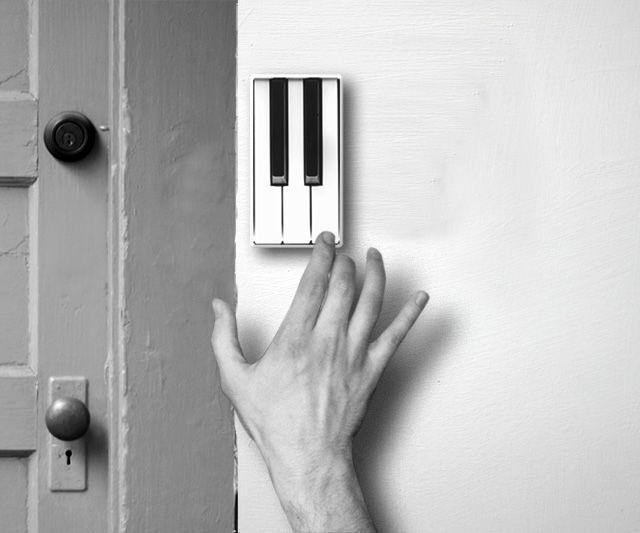 Piano Doorbell concept design by Li Jian