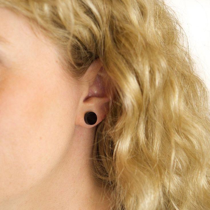 Amindy  - GEO - Circle Earring Studs - Black - $15 - Shop online at www.amindy.com.au