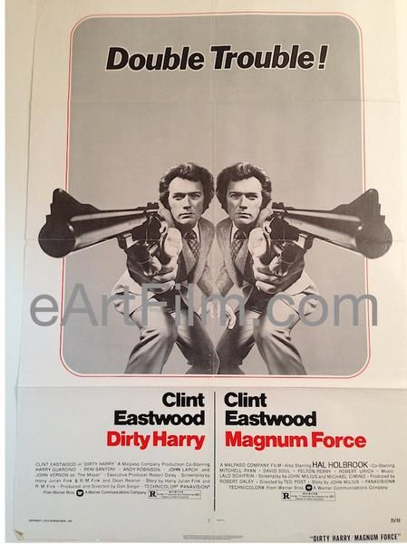 Happy Birthday #ClintEastwood https://eartfilm.com/search?q=clint+eastwood #actors #directors #PlayMistyForMe #PaleRider #EscapeFromAlcatraz #DirtyHarry #Movies #movie #film #cinema #poster #posters #movieposters    Dirty Harry_Magnum Force R1975 27x41 Original U.S One Sheet