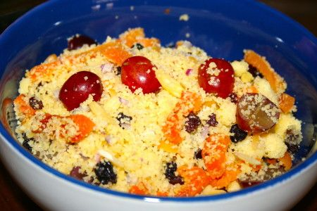 Resep Couscous Salad. Couscous adalah hidangan paling populer dari kuliner Maroko dan Afrika Utara. Resep Couscous Salad ini paling enak bila dihidangkan dengan menu ayam, ...