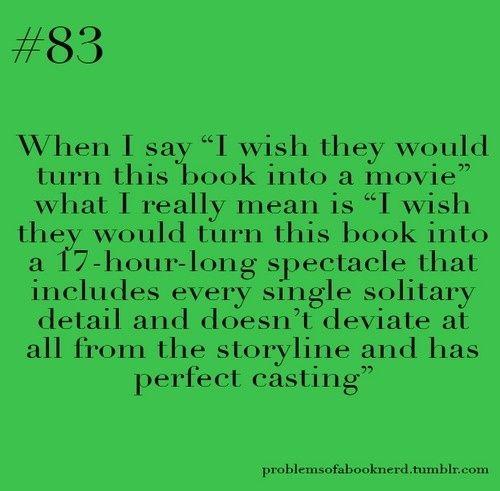books made into a movie....