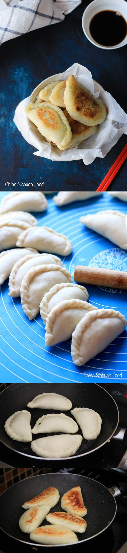 Chinese Chive Pocket(Pancake)--sister dish to Chinese pot-sticker.