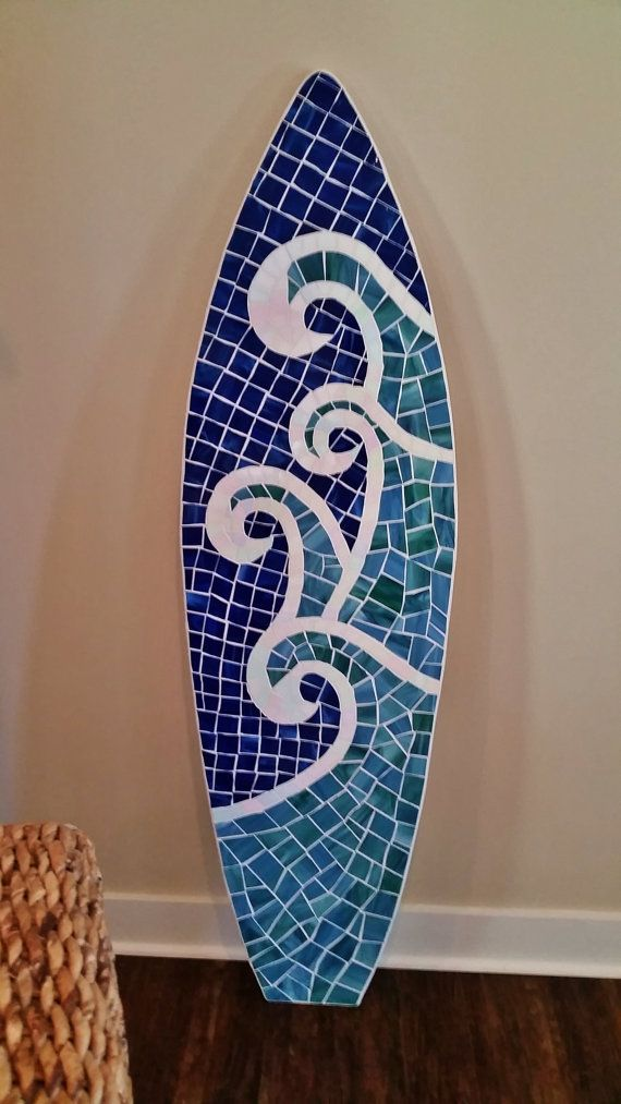 Colgante de pared de tablas de surf de madera por LucyDesignsonline