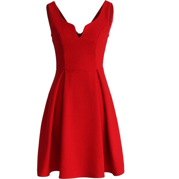 Chicwish Glamorous V-neck Dress in Red and other apparel, accessories and trends. Browse and shop 8 related looks.