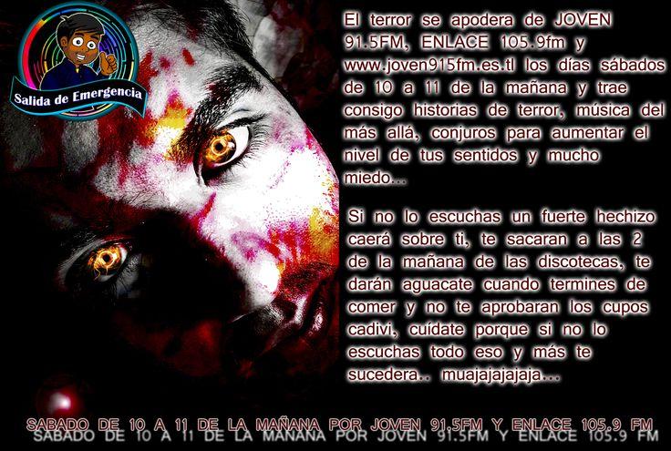 #Radio #Musica #Rock #Pop #Electronica #Dance #SalidaDeEmergencia #Neon #New #2014 #Sabado #ReysonRosas #JavierDelgado #LuisContreras #Best #More #Power #Designe #Live #Pasion #Joven91.5fm #Enlace105.9fm #Tachira #SanCristobal #Frontera #Venezuela #Cucuta #Pamplona #Chinacota #NorteDeSantander #Halloween