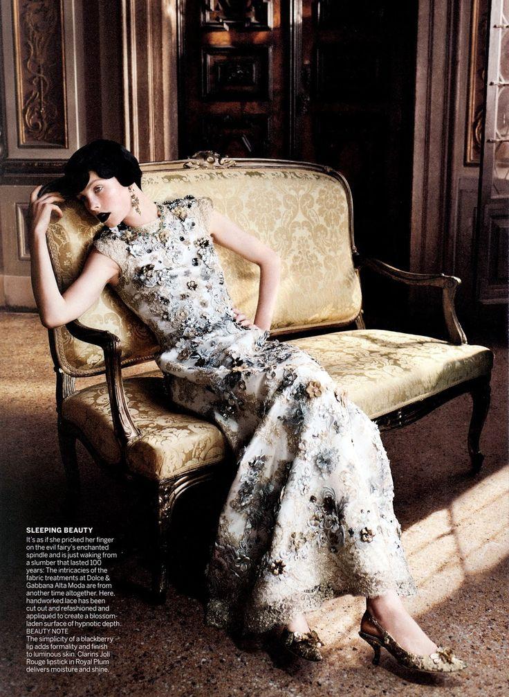Edie Campbell.VOGUE USA.September 2013 US Vogue Dergisi Eylül 2013 Editöryali   Cinderella Masalı