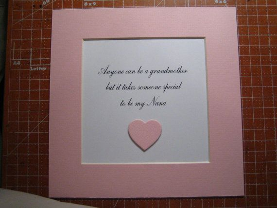 Framed quote for Grammy or Nana  9x9  Anyone by FiveSistersshop, $18.00