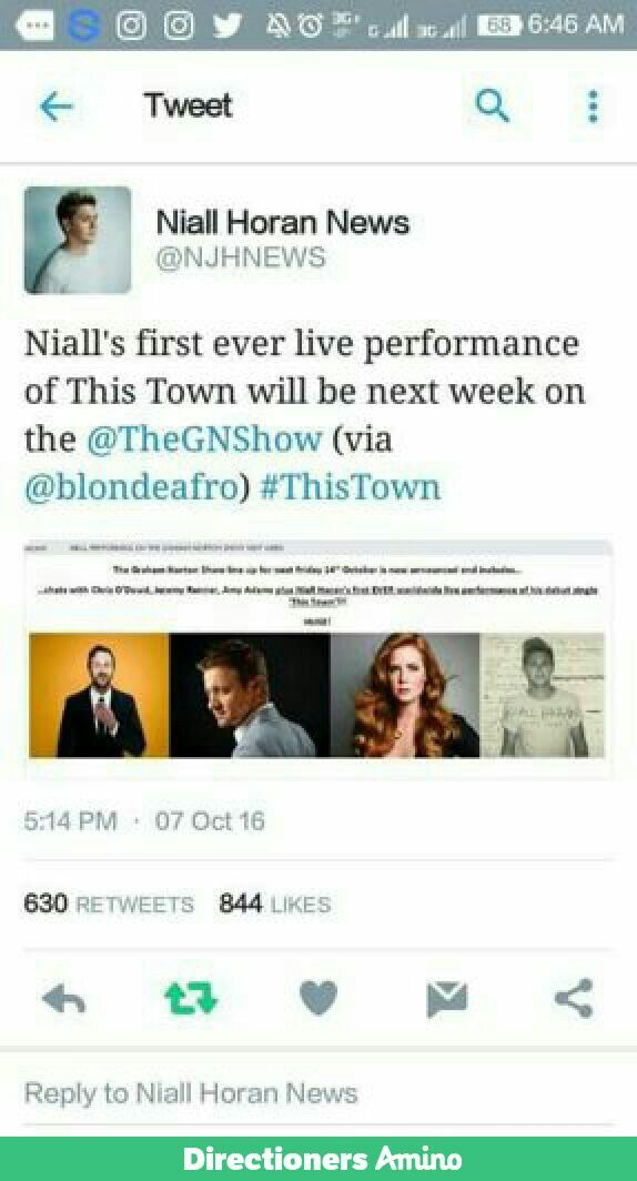 Latest news  Niall horan  Next month Yipieeee