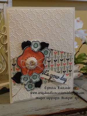 #inkadoodlecreations, #stampinup, #ssinkspiration, paper pumpkin kit, hand made cards, birthday, flowers
