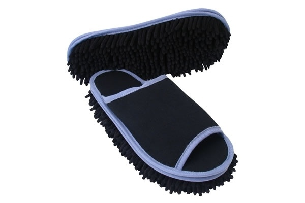 Microfiber cleaning slippers... a way to get your husband to help with the housework ;-)