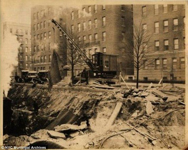 New York Independent Subway Construction: 175th to 183rd Street under Grand Concourse, Bronx.