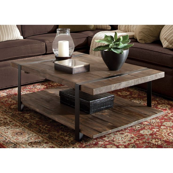 Bolton Furniture Modesto Natural-finished Reclaimed Wood Large Coffee Table (Modesto -Large Coffee Table, Rustic Natural), Brown