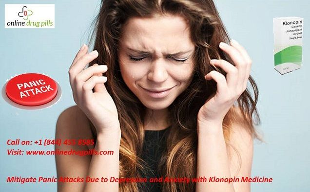 Klonopin is the potent medicine which contains generic #Clonazepam a highly recommended and effective medicine to mitigate panic attacks. Buy #klonopin2mg pills at cheap price from #OnlineDrugPills.