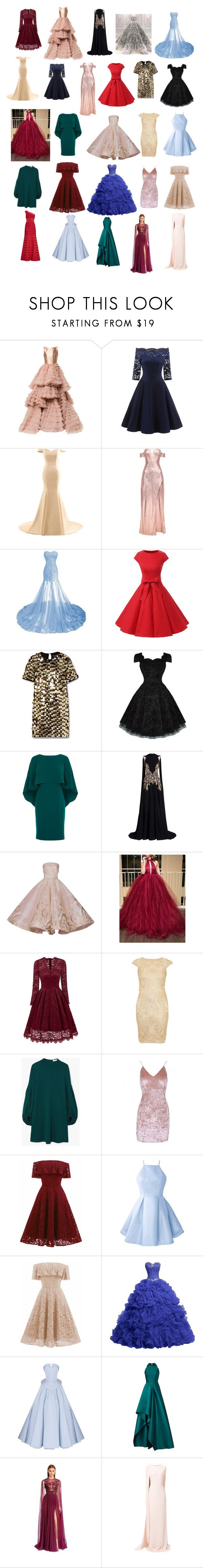 """Favourite dresses ! ❤"" by nalima-is-life ❤ liked on Polyvore featuring Isabel Sanchis, Rachel Zoe, Georges Hobeika, Mark Bumgarner, TFNC, MANGO, Christian Siriano, Badgley Mischka, Zuhair Murad and STELLA McCARTNEY"