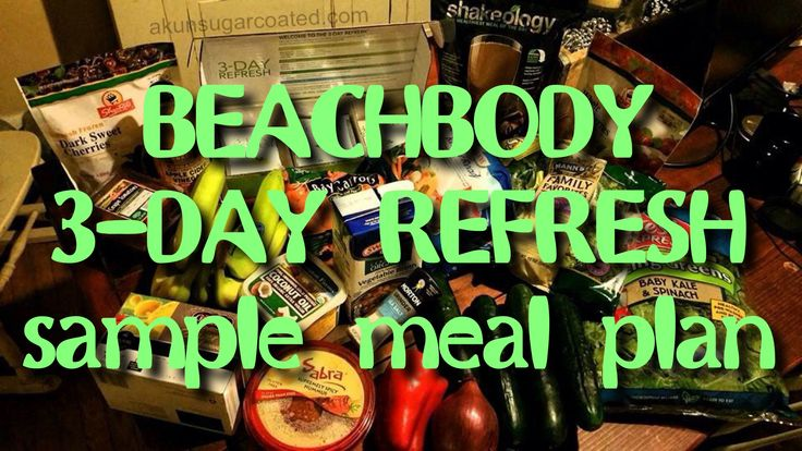 Find out what 3 days on the Beachbody 3 Day Refresh program look like and see what you can eat! http://akunsugarcoated.com/2015/03/02/beachbody-3-day-refresh-sample-meal-plan/