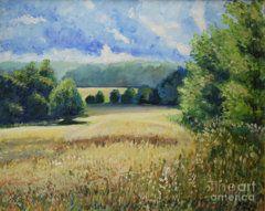 Raija Merila Painting - Landscape Near Russian Border by Raija Merila