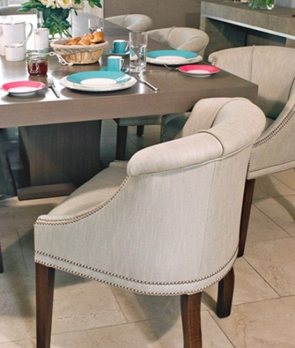 love low back dining chair make smaller rooms look not so