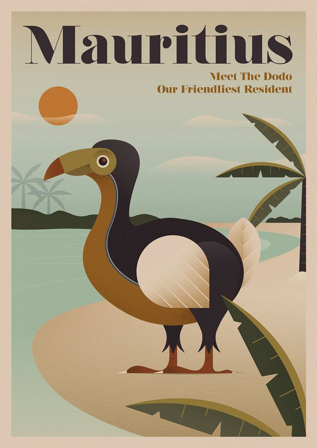 Nostalgic Travel Posters Showcase Extinct Animals You'll Never Get To See