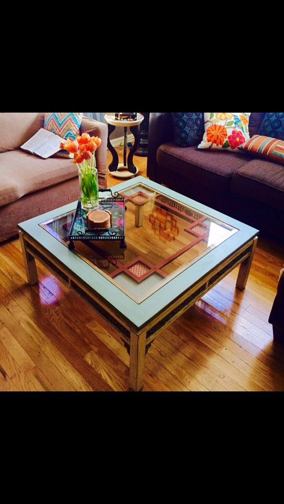 31 best images about coffee tables on pinterest copper for Cream glass coffee table