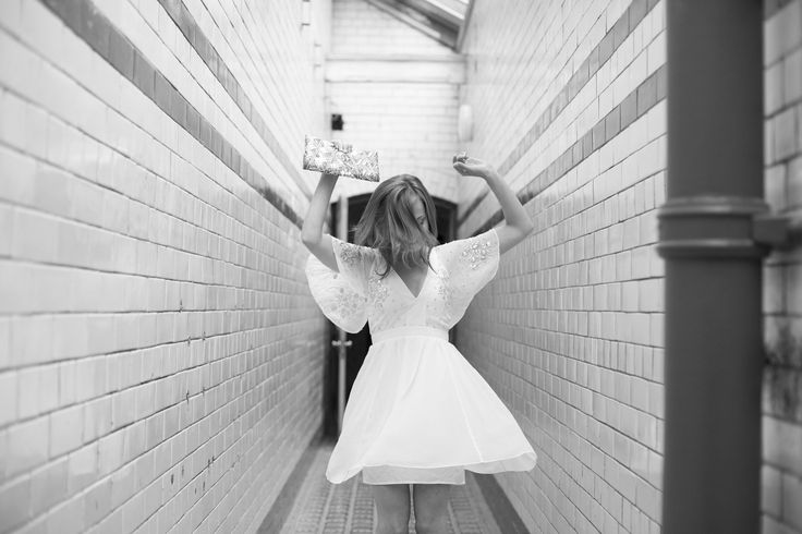 Victoria Baths Bride Dancing in Black and White