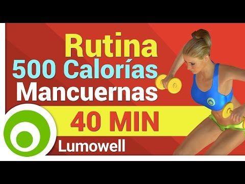 Quemar 500 Calorías - Ejercicios con Mancuernas - YouTube