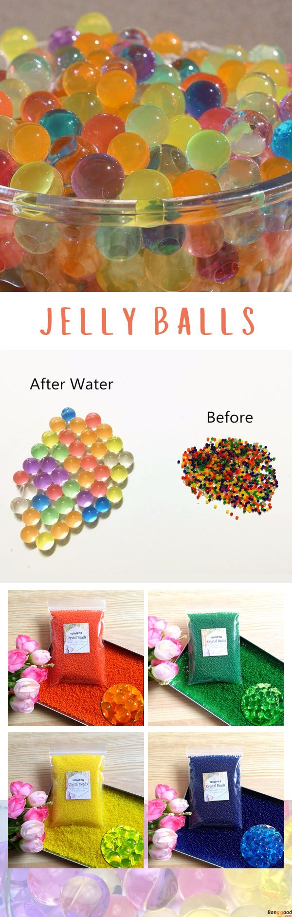 US$3.98+ Free Shipping. 10000 Pcs Water jelly Balls. Shop at banggood. #home#art#christmas#merrychristmas#design#homedecor#decor#toy