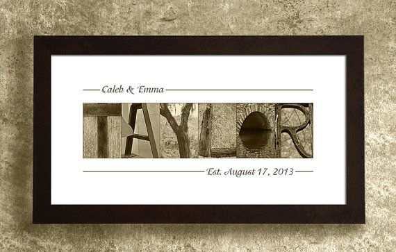 WEDDING GIFT PERSONALIZED  Family Name Sign by AlphabetArtPhotos, $29.95... great gift idea!