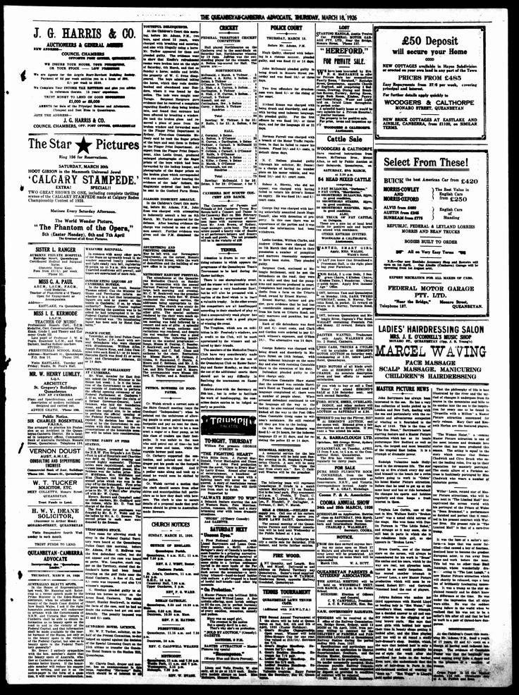 Queanbeyan-Canberra Advocate (NSW) - Australian Newspapers - MyHeritage