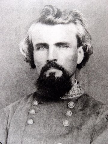 General Nathan Bedford Forrest (1821 –1877)  Striking photograph of the Confederate cavalry leader.  Thank you for all the comments about the KKK, but that doesn't take away from his accomplishments as a leader in the Civil War.