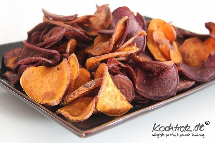 """Ihr wisst ja schon, """"Chipsen is my life"""". Ich chipse alles und was das Zeug hält. Hierlang geht es zu den: Pastinaken-Chips Kürbis-Chips Sehr dankbare Kandidaten sind Süßkartoffeln und am allerbest..."""