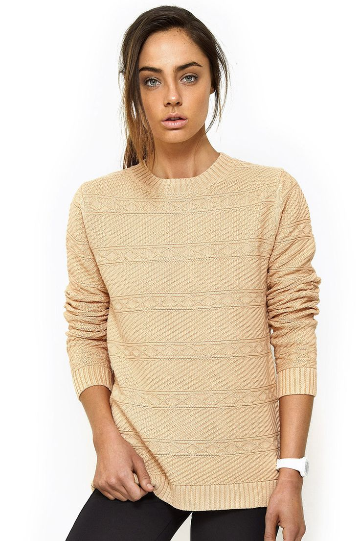 First Base - Weekender Slouchy Jumper In Camel