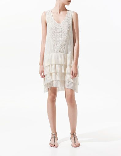 EMBROIDERED DRESS WITH FRILLS - Woman - New this week - ZARA United States