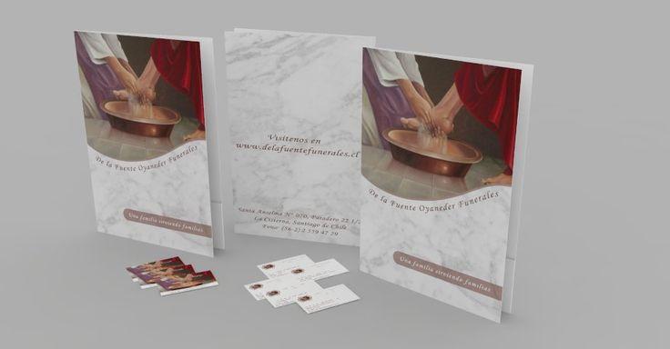 Carpetas y tarjetas para funeraria.