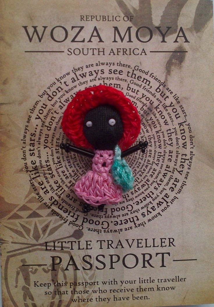 Our very own Crocheted Traveller! Each one made with love by Winnie Nene