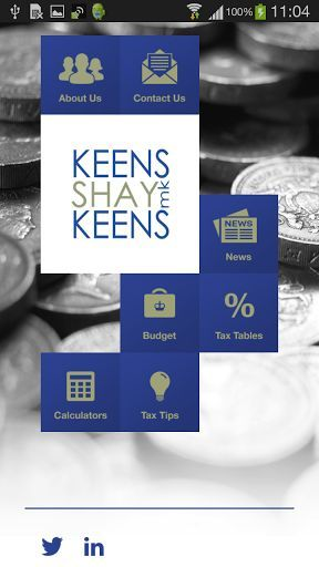 Keens Shay Keens MK App provides you with UK tax rate data, tax and financial calculators, tax tips and daily financial news. Our FREE app is updated with all current rates and data and is available for you to navigate quickly and easily to get the information you need and also includes latest Budget news from the Chancellor of the Exchequer.