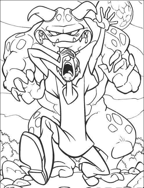 scooby doo werewolf coloring page | Cartoon | Pinterest ...