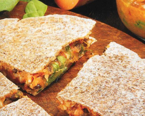 The Engine 2 Diet | Black Bean & Sweet Potato Quesadillas