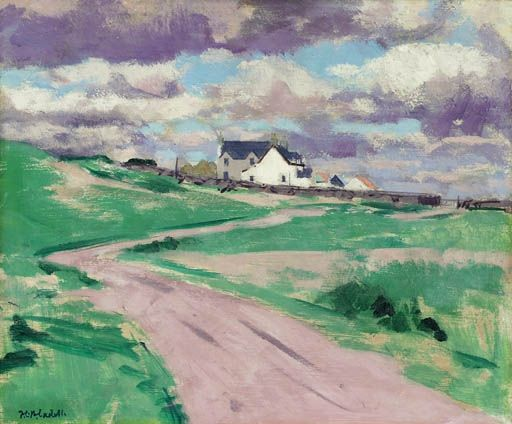Francis Campbell Boileau Cadell, The Road to the Farm, Iona
