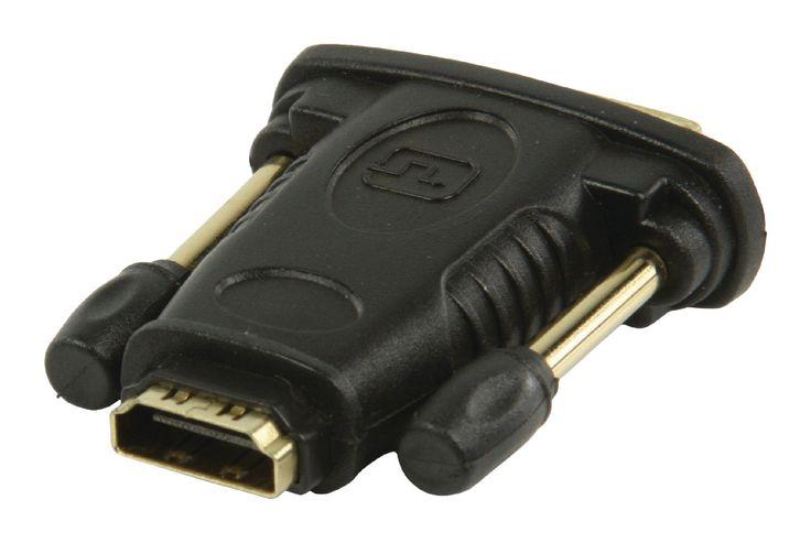 DVI - HDMI-adapter DVI mannelijk - HDMI input zwart  Deze DVI-adapter zet de HDMI-kabel om in een DVI-verbinding.  EUR 6.95  Meer informatie  #kabelmaxx