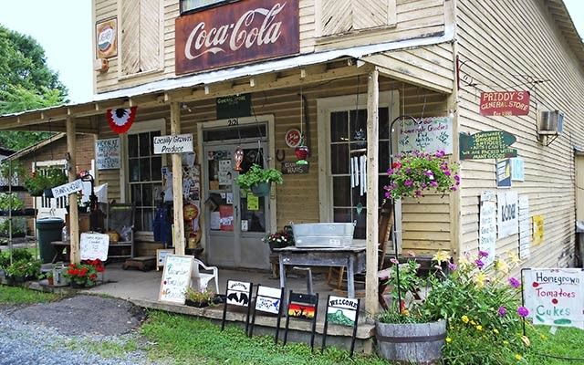 Priddy's Family General Store North Carolina ~ opened in 1929 and remains in business to this day. Nice to visit if you are at Hanging Rock State Park.  Its near Danbury NC.